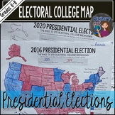 Electoral College Map Activities for 2012, 2016, and 2020