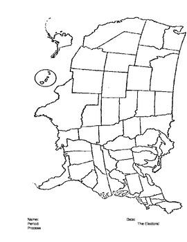 Electoral College Map Activity - Change in Electoral Votes