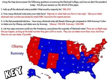 Electoral College Map Activity: Common Core