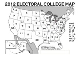 Electoral College Map to Color -2012