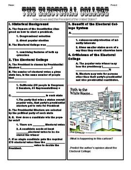 Electoral College Notes