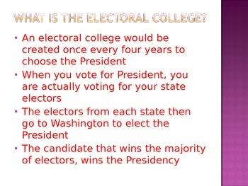 Electoral College PPT