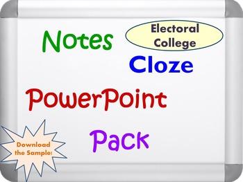 Electoral College Pack (PPT, DOC, PDF)