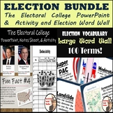 Electoral College PowerPoint, Activity, and Election Word Wall Bundle
