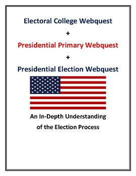 Electoral College + Presidential Primary + Presidential Election Webquests