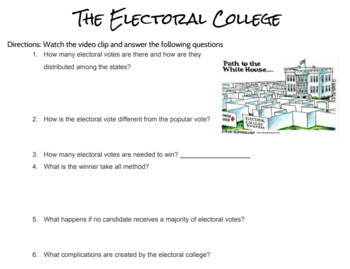 Electoral College Two day Lesson