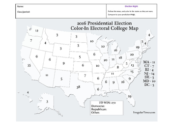 Electoral College VOTING the Numbers