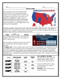 Electoral College Worksheet: Reading with Questions and An