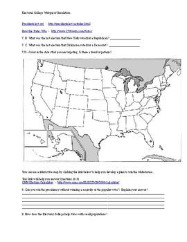 Electoral College activity web quest/simulation