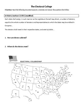 Electoral College and Presidential Elections