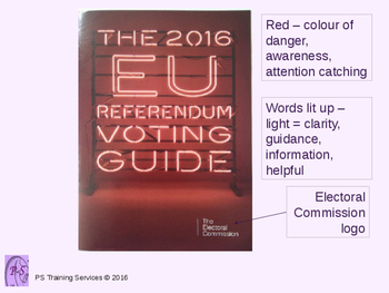 Electoral Commission Leaflet Analysis
