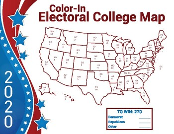 Electoral Map 2020 - Color-in Map