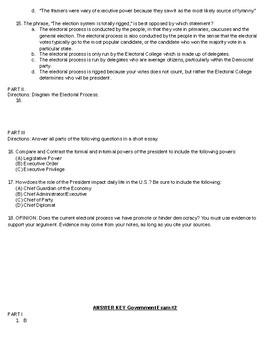 Electoral Process Exam