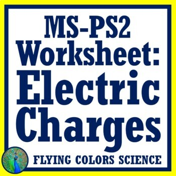 Electric Charge Practice Activity Middle School NGSS MS-PS2-3 MS-PS2-5