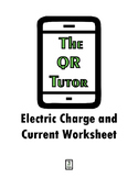 Electric Charge and Current Worksheet