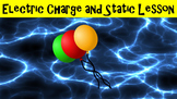 Electric Charge and Static Lesson with Power Point, Worksheet, and Activity