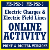 Electric Charges and Electric Field Lines Online Activity NGSS MS-PS2-3 MS-PS2-5