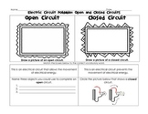 Electric Circuit Foldable: Open, Closed, Series, and Parallel Circuits