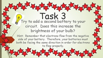 Electric Circuit Task Cards