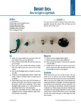 Electric Circuits Introduction, Light a Bulb — Hands-on lab activity
