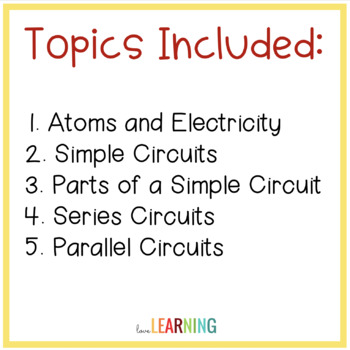 Electric Circuits PowerPoint Lesson, Guided Notes, Lab, and Video Sheet