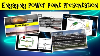 Electric Circuits No Prep Lesson w/ Power Point, Worksheet and Circuit Activity