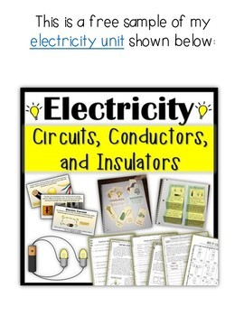 Electric Circuits Reading Comprehension and questions + Experiment Free Sample