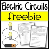 Electric Circuits Reading Comprehension and questions + Experiment