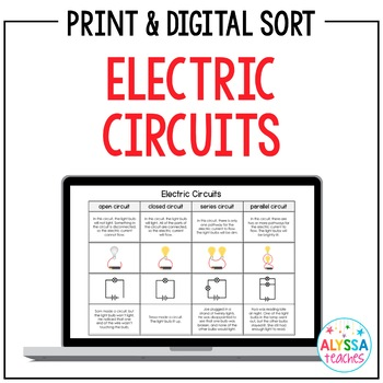 Electric Circuits Sorting Cards