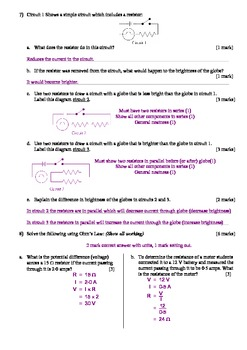 Electric Circuits Test