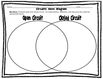 electric circuits venn diagram open closed series and parallel rh teacherspayteachers com Parallel Circuit with Two Batteries differences between parallel and series circuits venn diagram