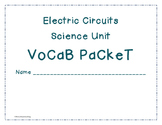 Electric Circuits Vocabulary Packet, Activities, and Worksheets