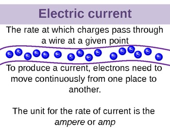 Electric Current, Circuit and Voltage Powerpoint