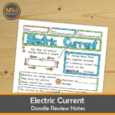 Electric Current in Electrical Circuits Doodle Sheet Visua