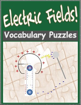 Electric Fields Vocabulary Review WordFit Puzzle - HS Physics