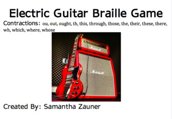 Electric Guitar Braille Game