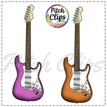 Electric Guitar Clipart (Clip Art) - Rock n Roll Rock Star Instrument