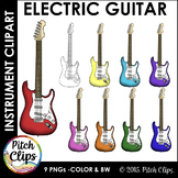 Electric Guitar Clipart (Clip Art) - Rock n Roll Rock Star