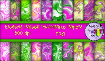 Electric Pastels Hurricane Papers