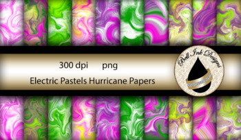 Electric Pastels Hurricane Papers Clipart