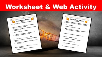 Electric Power and Safety No Prep Lesson w/ Power Point, Worksheet and Activity
