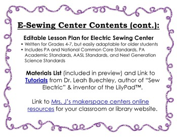 Electric Sewing Makerspace Center: An E-Textiles Project for Beginners