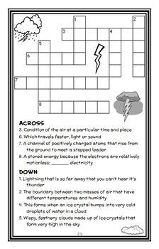 Electric Storm (Magic School Bus) Novel Study / Comprehension  (29 pages)