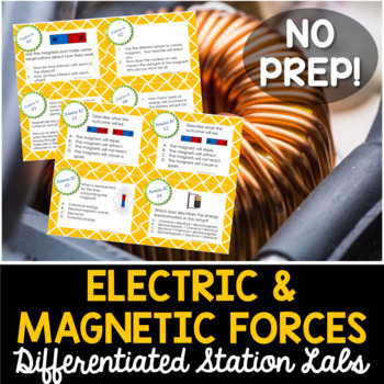 Electric and Magnetic Forces Student-Led Station Lab