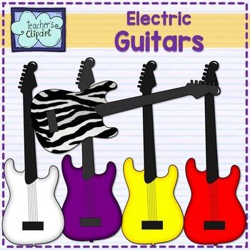 Electric guitars clipart