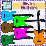 Electric guitars clipart