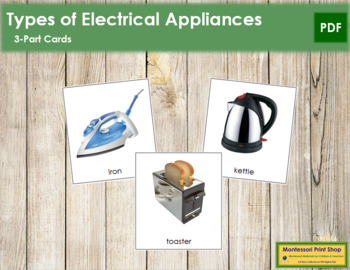 Electrical Appliances: 3-Part Cards