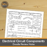 Electrical Circuit Components Doodle Review Middle School Physics