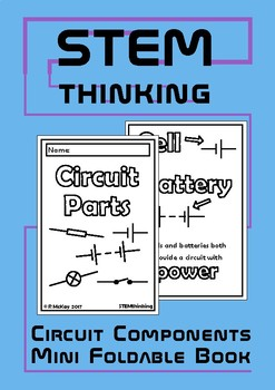 Electrical Circuit Components Mini Foldable Book, Middle School Physics