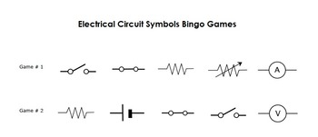 Electrical Circuit Symbol Bingo